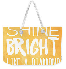 Shine Bright Orange Weekender Tote Bag
