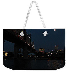 Shining Moon Weekender Tote Bag by Catie Canetti