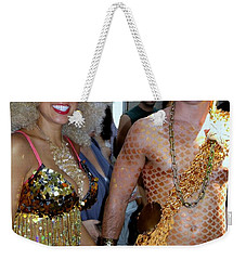 Weekender Tote Bag featuring the photograph Shiny Happy People by Ed Weidman