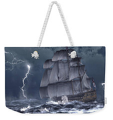 Ship In A Storm Weekender Tote Bag