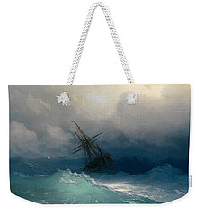 Ship On Stormy Seas Weekender Tote Bag