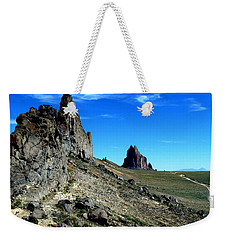 Weekender Tote Bag featuring the photograph Shiprock by Alan Socolik