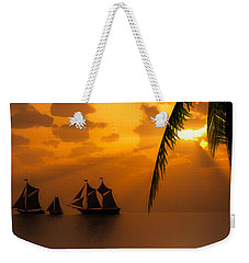 Ships And The Golden Dawn... Weekender Tote Bag