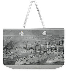 Weekender Tote Bag featuring the digital art Ships by Cathy Anderson
