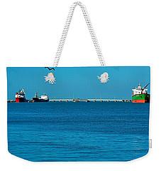 Ships  In Harbor Weekender Tote Bag