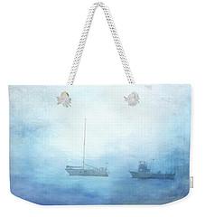 Ships In The Morning Haze  Weekender Tote Bag