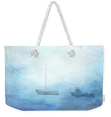 Ships In The Morning Haze  Weekender Tote Bag