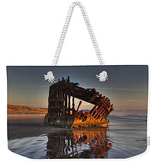 Shipwreck At Sunset Weekender Tote Bag