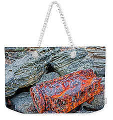 Weekender Tote Bag featuring the photograph Shipwrecked ? by Miroslava Jurcik