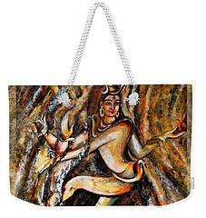 Weekender Tote Bag featuring the painting Shiva Eternal Dance by Harsh Malik