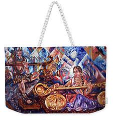 Shiva Parvati Weekender Tote Bag by Harsh Malik