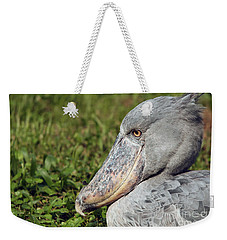 Weekender Tote Bag featuring the photograph Shoebill Balaeniceps Rex by Liz Leyden