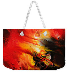 Weekender Tote Bag featuring the painting Shooting Star by Kume Bryant
