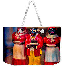 Weekender Tote Bag featuring the photograph Shop Window Trio by Chris Lord