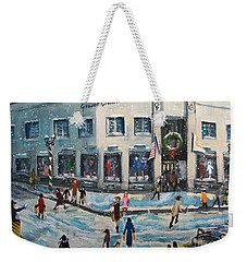 Shopping At Grover Cronin Weekender Tote Bag by Rita Brown