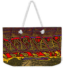 Shopping Carts Weekender Tote Bag by Richard Farrington