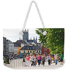 Weekender Tote Bag featuring the photograph Shopping Trip by Mary Carol Story