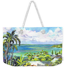 Weekender Tote Bag featuring the painting Shores Of Oahu by Carol Wisniewski