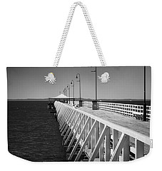 Shorncliffe Pier In Monochrome Weekender Tote Bag