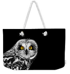 Short-eared Owl Weekender Tote Bag by Mark Rogan