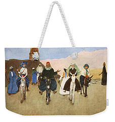 Should Women Ride Astride?, From The Weekender Tote Bag by Lance Thackeray