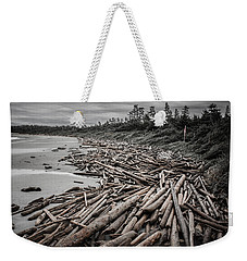 Shoved Ashore Driftwood  Weekender Tote Bag by Roxy Hurtubise