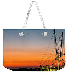 Shrimp Boat At Dusk Folly Beach Weekender Tote Bag