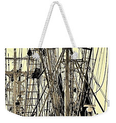 Weekender Tote Bag featuring the photograph Shrimp Boat by Debra Forand