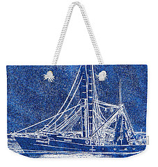 Shrimp Boat - Dock - Coastal Dreaming Weekender Tote Bag