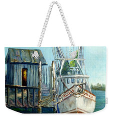 Shrimp Boat Paintings Weekender Tote Bag