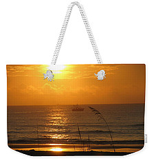 Shrimp Boat Sunrise Weekender Tote Bag