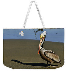 Shy Pelican Weekender Tote Bag