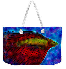 Siamese Fighting Fish II Weekender Tote Bag by Anita Lewis