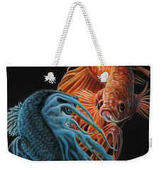 Siamese Fighting Fish Two Weekender Tote Bag