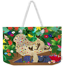 Siameses En Chaise Con Flores Limited Edition 2 Of 15 Weekender Tote Bag