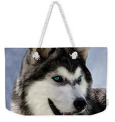 Siberian Husky Weekender Tote Bag by Linsey Williams