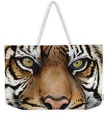 Siberian Tiger Closeup Weekender Tote Bag