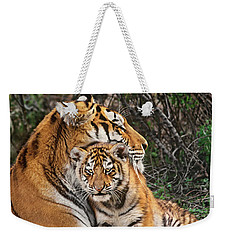 Siberian Tiger Mother And Cub Endangered Species Wildlife Rescue Weekender Tote Bag