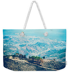 Weekender Tote Bag featuring the photograph Sicilian Land After Fire by Silvia Ganora