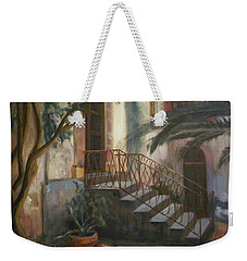 Weekender Tote Bag featuring the painting Sicilian Nunnery by Donna Tuten