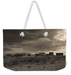 Weekender Tote Bag featuring the photograph Side View Tom Horn Set Mescal Arizona by David Lee Guss