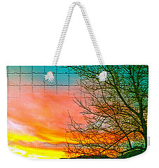 Sierra Sunset Cubed Weekender Tote Bag by Mayhem Mediums