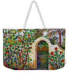 Weekender Tote Bag featuring the painting Siesta Key Archway by Lou Ann Bagnall