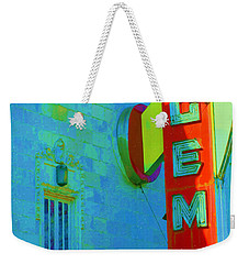 Sign - Gem Theater - Jazz District  Weekender Tote Bag
