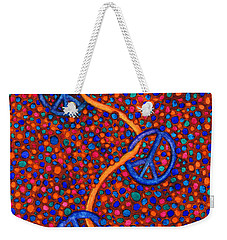 Weekender Tote Bag featuring the painting Signs Of Peace by Janice Dunbar