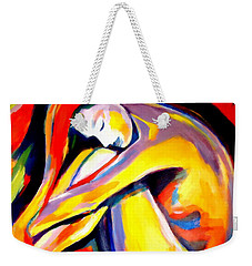 Weekender Tote Bag featuring the painting Silence by Helena Wierzbicki