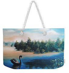 Weekender Tote Bag featuring the painting Silence by Vesna Martinjak