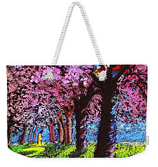 Contemporary Jesus Painting, Silent Communion Weekender Tote Bag