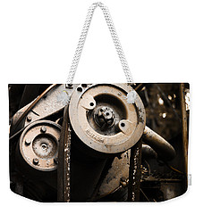 Weekender Tote Bag featuring the photograph Silent Spinning by Rebecca Davis