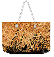 Silhouette Bighorn Sheep Weekender Tote Bag